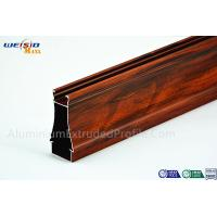 Quality Structural AA6063 T5 Window Aluminium Frame Wood Grain Surface for sale