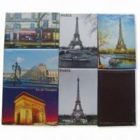 Quality Die-cut PVC Fridge Magnets, Made of Crystal Glass and Paper, Non-toxic, Eco-friendly for sale