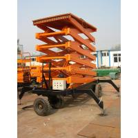 China 1000kg hydraulic aerial working platform Scissor Lift for 12000mm working height on sale