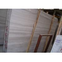 Quality Large White Wooden Marble Stone Slab For Countertops 240up X 120up Cm for sale