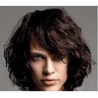 Buy Soft Deep wave Lace Front Human Hair Wigs , 100% Virgin Unprocessed Half Lace Wig at wholesale prices
