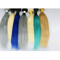 Quality Indian Human Hair Gray Color / Colorful Human Hair Extension Fashion Style for sale