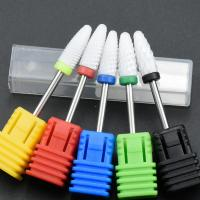 Quality Not Rusty Cuticle Nail Drill Bits Ceramic Material Corrosion / Heat Resistant for sale