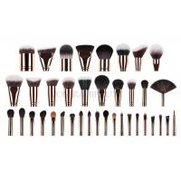 Quality Custom Private Labeled Makeup Brushes High End Luxury With Rosy Brass Ferrule for sale