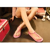 Quality Pink Brown Fashion Flip Flops Fashion Espadrille Style Shoes Open Toe for sale