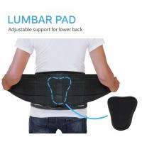 Buy L XL Elastic Lumbar Back Spine Brace With Lumbar Pad Adjustable Breathable at wholesale prices