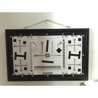 Quality iso 12233 2000 lines cctv camera test chart resolution test chart on paper and glass (chrome print) 200mm*356mm 16:9 for sale
