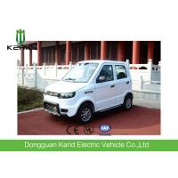 Quality Battery Powered  Electric City Car With 4 Seats All Electric Vehicles White Color for sale