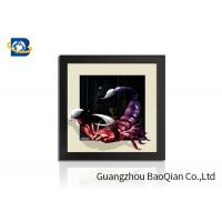 Quality PVC / MDP Frame 3D 5D Pictures Different Animal Patterns Wall Decoration for sale