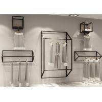 Buy cheap Clothing Shop Display Fixtures / Garment Wall Display Small And Light Style from wholesalers