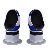 Quality 10 Square Meters Single Seat 9D VR Egg Chair with DPVR E3 2K Glasses for sale