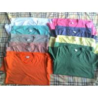 Quality 65,500 piece cheap price women's Solid color Tees shirt 1 style 11 colors full size stock for sale