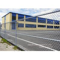Buy Gal. Chain Link Fencing / Woven Diamond Shape Mesh Fence For Farm at wholesale prices