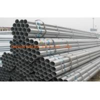 Quality Round Galvanized Steel Tubes , ERW Electric Resistance Welded Steel Pipe for sale
