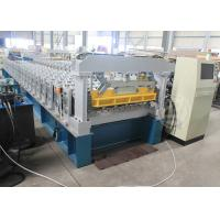 Quality Ghana 1200MM Steel Structure Metal Roof Roll Forming Machine Mitsubishi PLC for sale