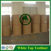 Buy cheap 125g 170g 250g White Top kraft liner board / white top testliner paper / packaging paper in sheet from wholesalers