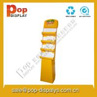 Quality Yellow Display Stands / Racks Retail And Foldable For Floor for sale