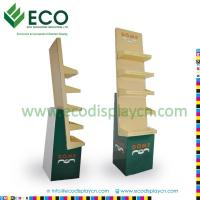 Quality Retail Supermarket Floding Cardboard Floor Display Stand, Corrugated Cardboard Display Shelves for sale