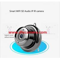 Quality 2Megapixel HD mini smart move detection PIR WIFI SD audio IP camera Wall Door etc. mounted without screws Hidden IR Leds for sale