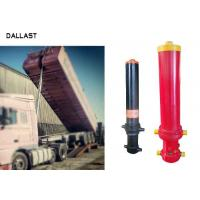 Quality 3 Stage Single Acting Telescopic Cylinder , Hydraulic Lift Cylinder For Dump Truck for sale