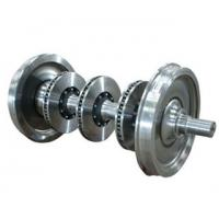 Buy cheap high speed rail train wheel set with brake discs railway wheelset with brake from wholesalers
