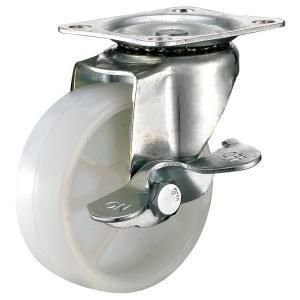 Quality Furniture Nylon Caster Wheels , Backroom Equipment Lockable Furniture Casters for sale