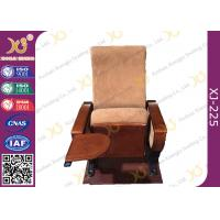 Quality Auditorium Conference Hall Chairs With Durable Plywood Writing Table / Large Iron Leg for sale