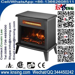 China Freestanding Fireplace Flame  log Stoves superior infrared quartz tube www.knsing.com on sale