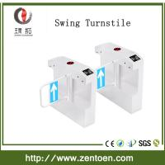 Quality crowd control RFID card reader optical turnstile bi-directional swing gate for sale