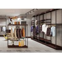 Quality Inexpensive Metal Apparel Showroom Displays Customized Logo Simple Style for sale