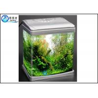 Buy Luxury Mini Glass Aquarium , Plastic Cover Colorful Betta FishTank at wholesale prices