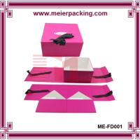 Quality Paper Foldable Underwear Box with Magnetic Closure (Paper Box with Ribbon) ME-FD001 for sale
