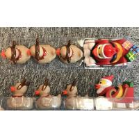 Quality ATBC-PVC Christmas Bath Duck Toys Set / Reindeer Rubber Duck With 3 Baby for sale