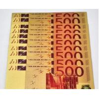 Buy cheap €5 €10 €20 €50 €100 €200 Euro colorful Gold Foil Banknote from wholesalers