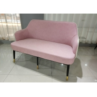 China Polished 56cm 130cm Cloth Wrought Iron Settee on sale