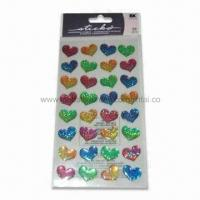 Quality Bubble Hearts Epoxy 3D Stickers, Available in Various Styles, Suitable for Children for sale
