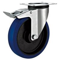 Quality Steel Housing Industrial Dolly Wheels , Zinc Plated Industrial Table Wheels for sale