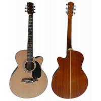 Quality handmade 40 inch Sapele Back Wood Acoustic Guitar with 5 line rosette AF4020C for sale