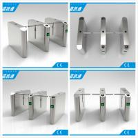 Quality Office Entrance Stainless Steel Drop Arm Turnstile With 560mm Passage Width for sale