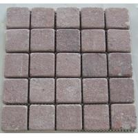 Quality Red Granite Pavers, Rectangular Red Granite Paving Stone for Park for sale
