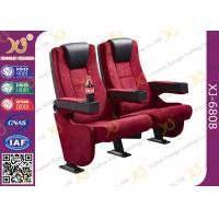 Quality Rocker Back luxury Movie Theatre Auditorium Chair With Tablet Arms for sale