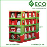 Quality Supermarket Pallet Display, Paper Display For Retail, Christmas Greeting Card Dispaly Stands for sale
