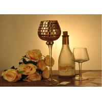 Quality Stemware Mosica Vintage Glass Candle Holders For Wedding Eco Friendly for sale