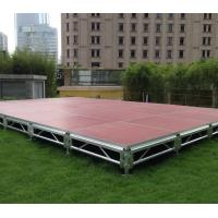 Quality Fast Install, Good loading Capacity, Brown Red Aluminum Plywood Portable Stage for sale