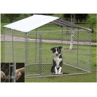 China OEM / ODM Accepted Metal Dog Kennel With Canopy Top Lock Design High Security on sale