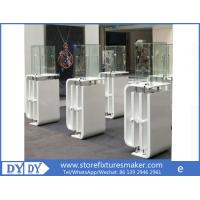 Quality Oem manufacturing good price wooden glass white color perspex display stands with locks for sale