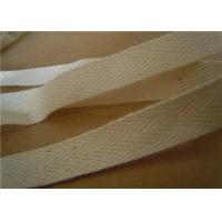 Buy 25mm garment white cotton webbing straps ribbons with weave customized at wholesale prices