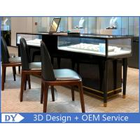 Buy Simple Nice Black Color Jewelry Counter Display With Cabinets at wholesale prices