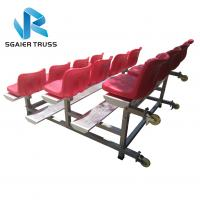 Quality Strong Convenient Aluminum Stadium Bleachers With Wheels Easy To Assemble for sale