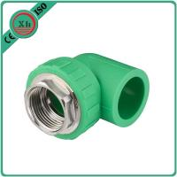 Quality Eco Friendly PPR Elbow With Thread , Flexible 1 Inch Elbow 16 - 32 MM Size for sale